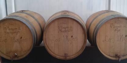 Toneles de Vinagre dulce ecológicos de los majos