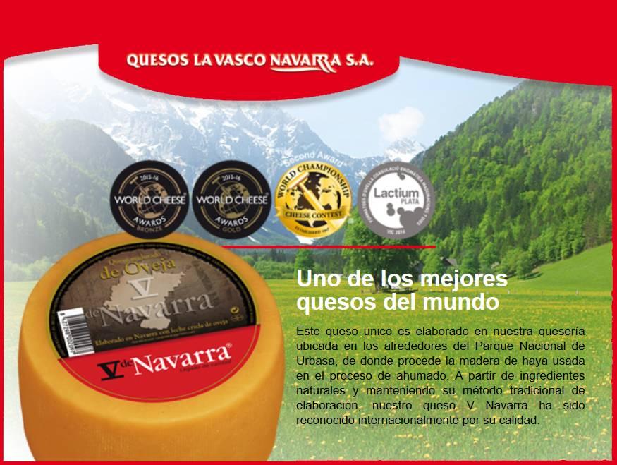 v de navarra uno de los mejores quesos del mundo V de Navarra Queso leche cruda  Oveja Ahumado cuña 250gr
