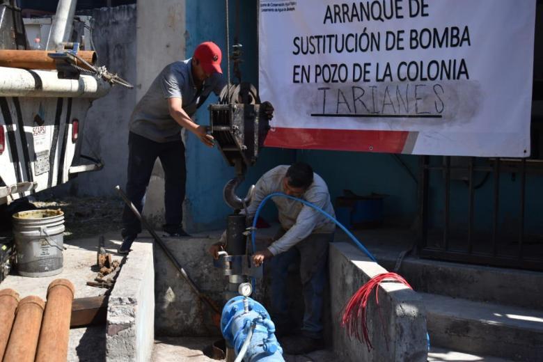 suministro de agua potable en Valle de los Tarianes 02