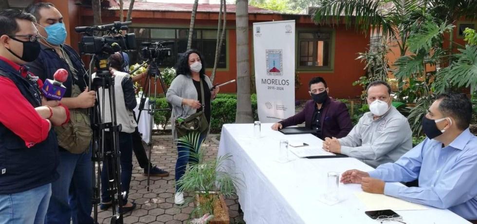 Conferencia de prensa de las autoridades de la Secretaría de Desarrollo Sustentable.