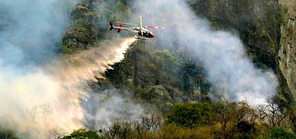 Incendio en Tepoztlán Foto: Margarito Pérez Retana