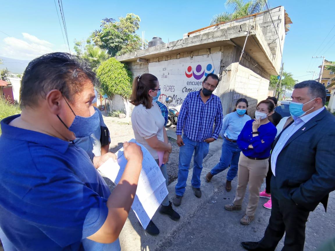 Visitan titulares del SAPAC y de Ceagua la Colonia Cerritos