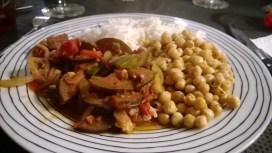 Ratatouille, Roasted Chick Peas and du Riz