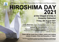 Hiroshima Day Service streamed from Coventry