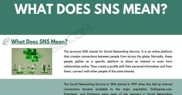 SNS Meaning