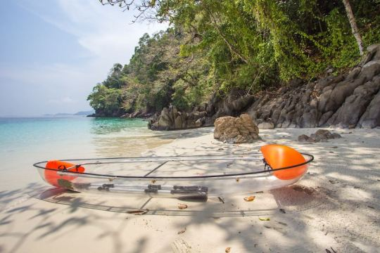 Clear Kayak By The Sea