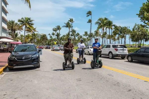 Men on Segway Tour in Miami, Florida