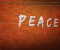 Peace on a brick wall