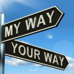 My Or Your Way Signpost