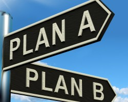 Plan A or Plan B signpost