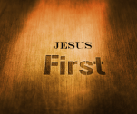 Jesus first on a gold background