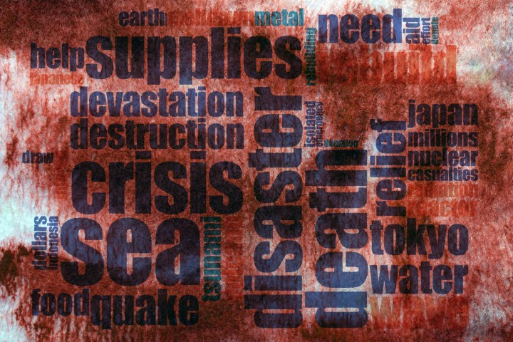 Word map of crises