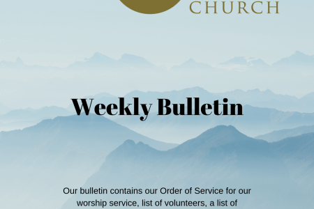 Weekly bulletin cover sheet
