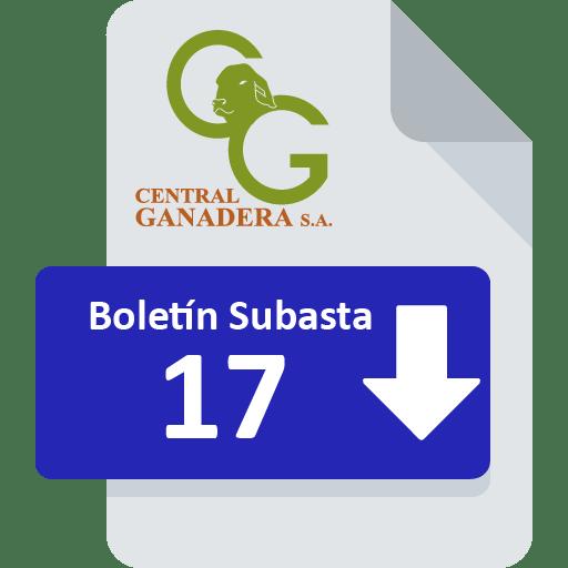 Resultados Subasta 17