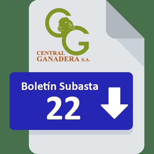 Resultados Subasta 22