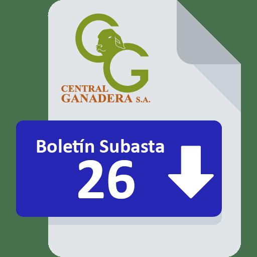 Resultados Subasta 26