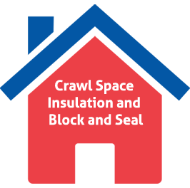 Crawl Space Insulation and Black and Seal