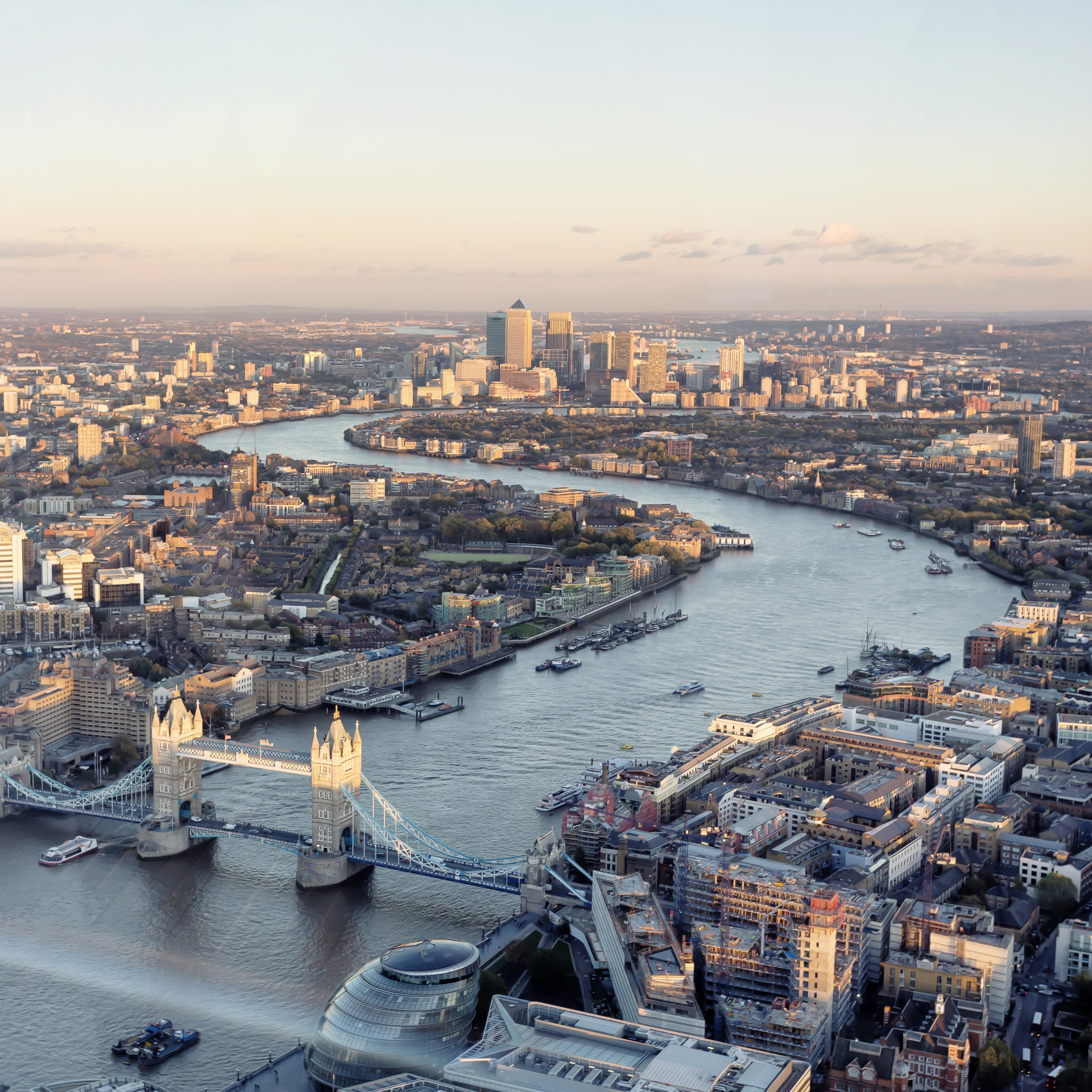 The Thames River London house prices