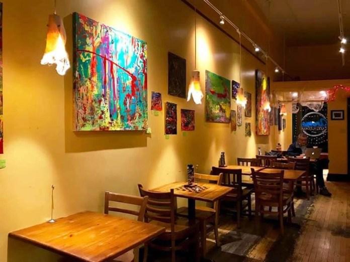 Art inside Aroma Cafe