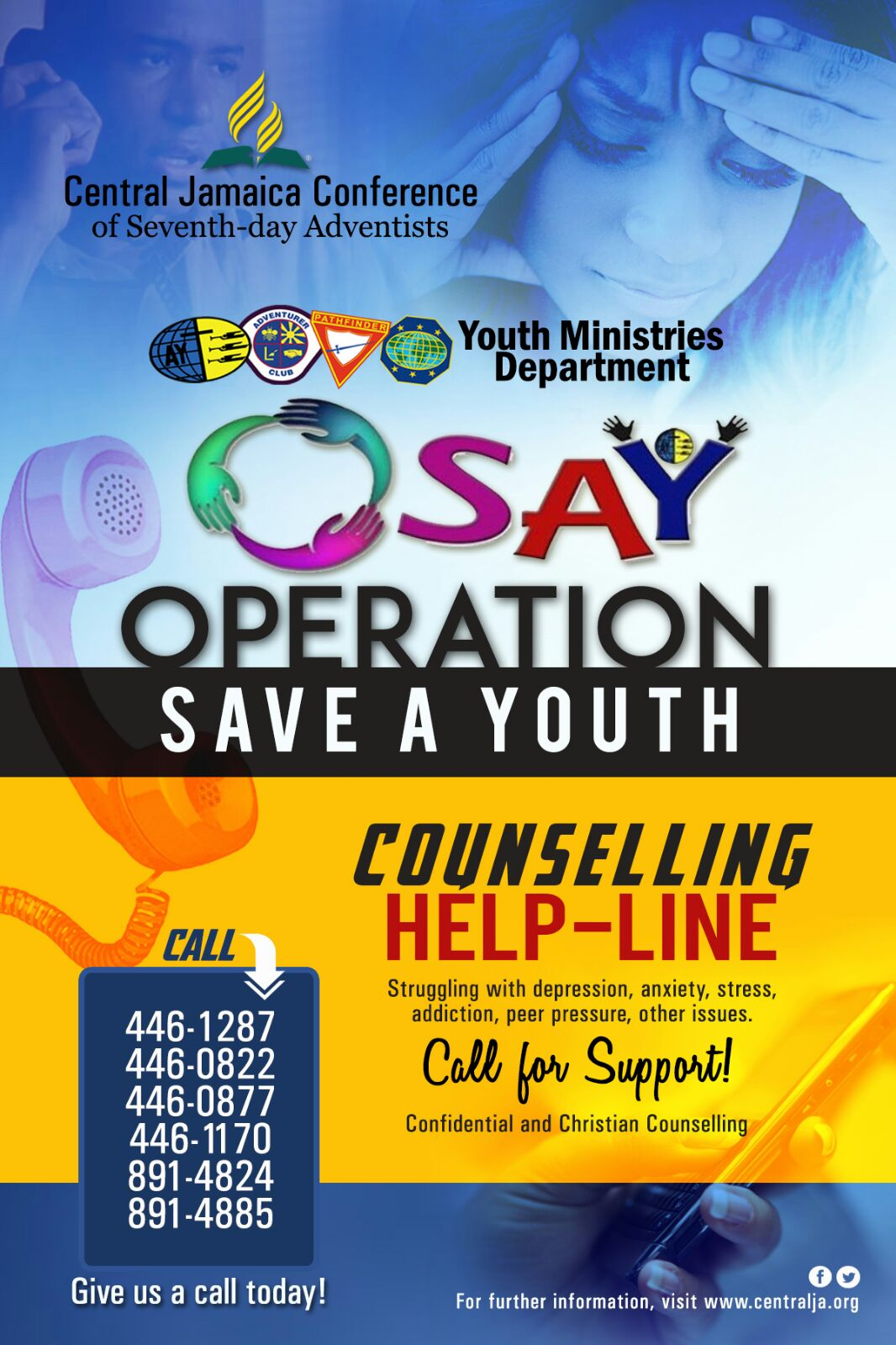 OSAY Helpline  Central Jamaica Conference of Seventhday Adventists