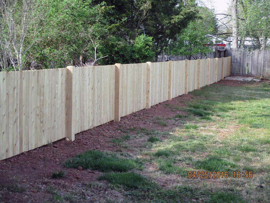 White & Red Cedar Fence Installation