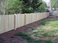 White & Red Cedar Fence Installation