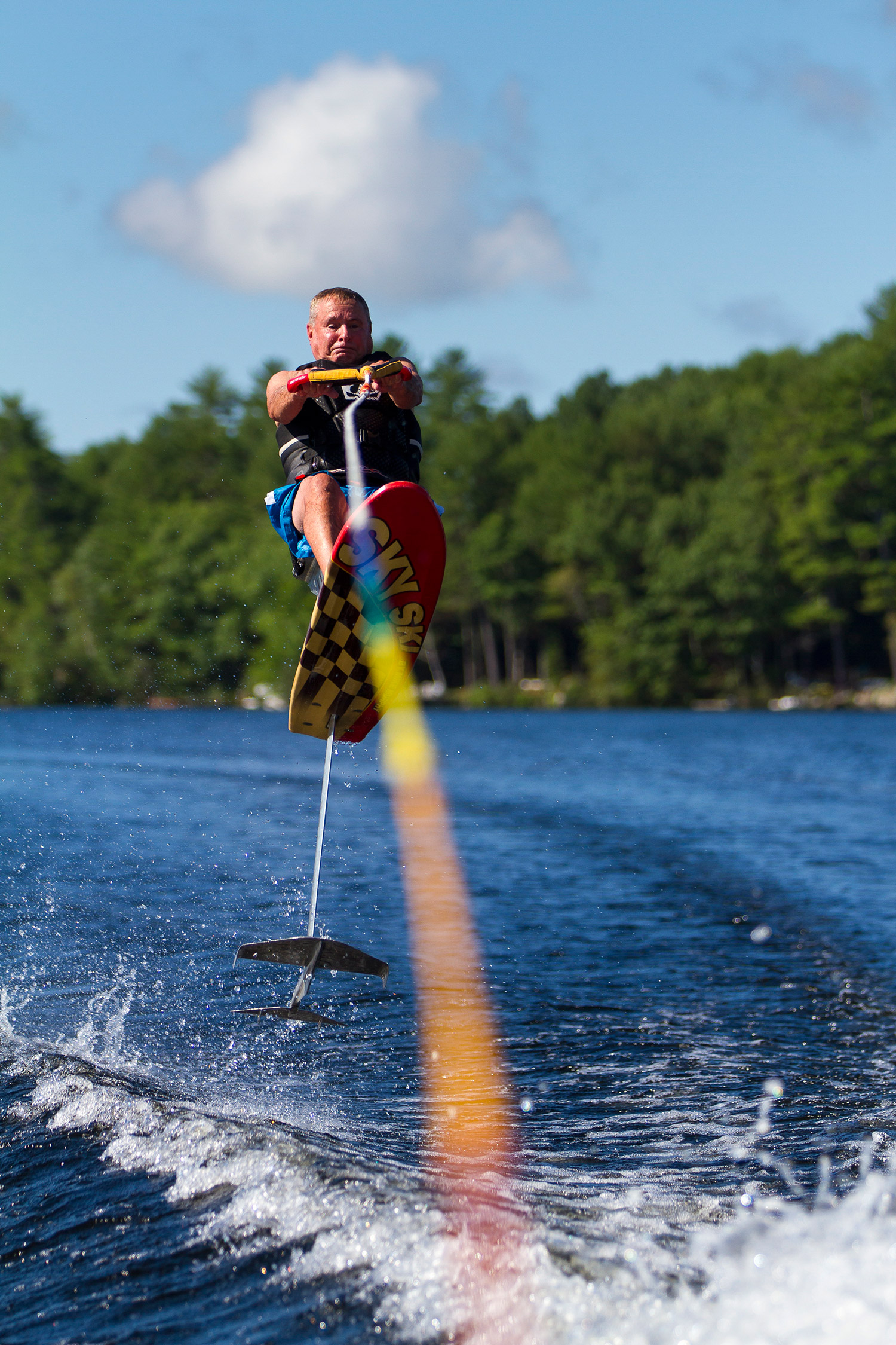 Water Ski Chair Pete Alderman Still Water Skiing At Age 79 Central Maine