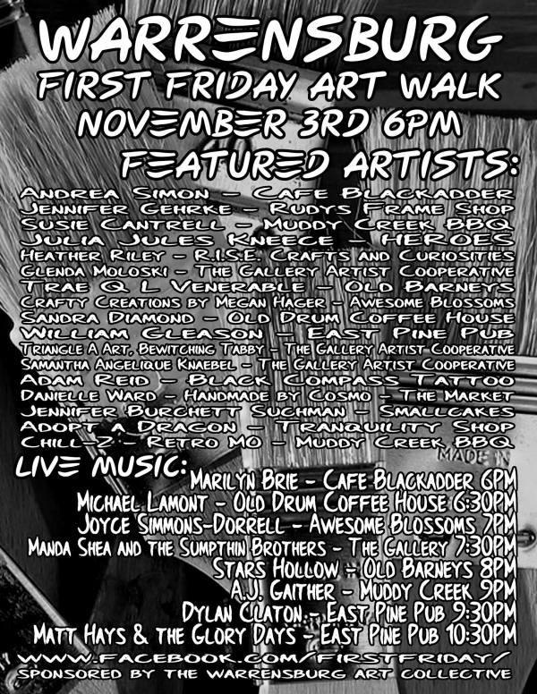 Warrensburg Fridays Art Walk Pushes Fall
