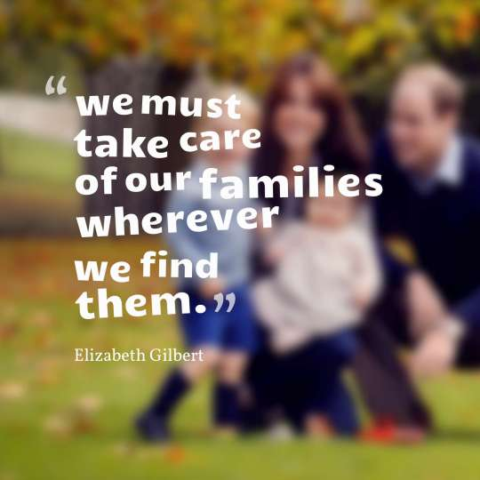 we must take care of our families wherever we find them.