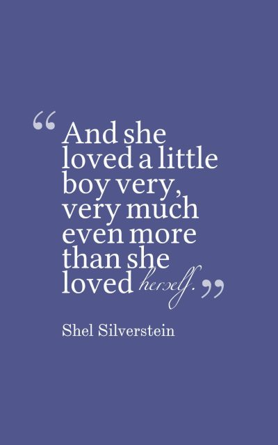 And she loved a little boy very, very much – even more than she loved herself.