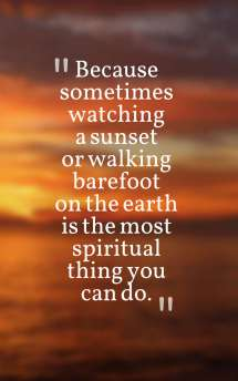 Spiritual Sunset Quotes