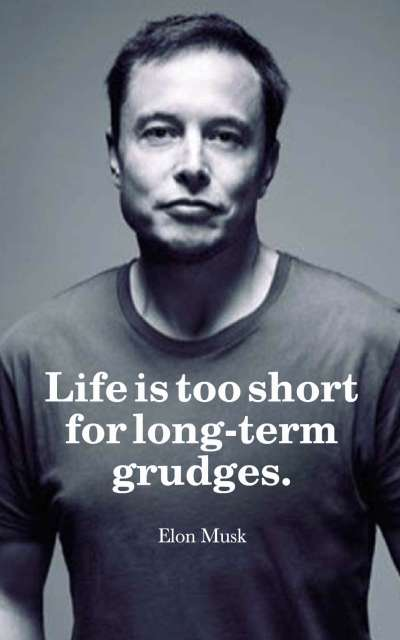Life is too short for long-term grudges.