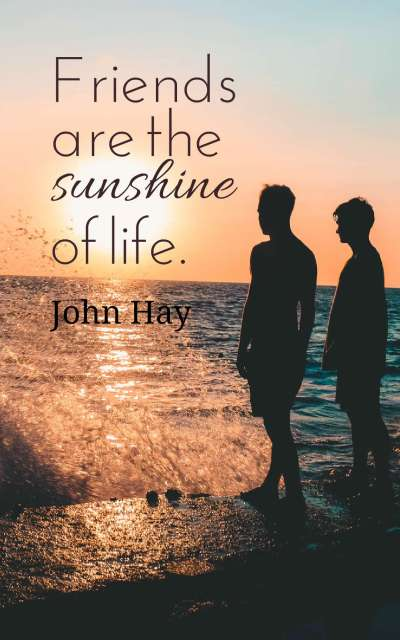 Friends are the sunshine of life.