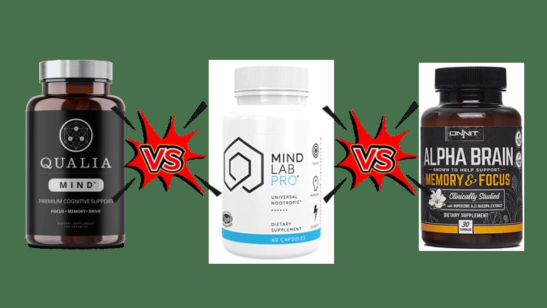 Qualia Mind vs Alpha Brain vs Mind Lab Pro Comparison by CPSF Staff