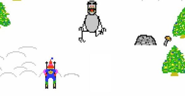 Relembre o clássico Skifree, o jogo de esqui do Windows