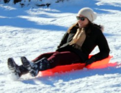 Sledding on Cedar Hill