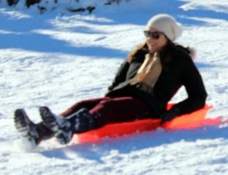 Sledding on Cedar Hill