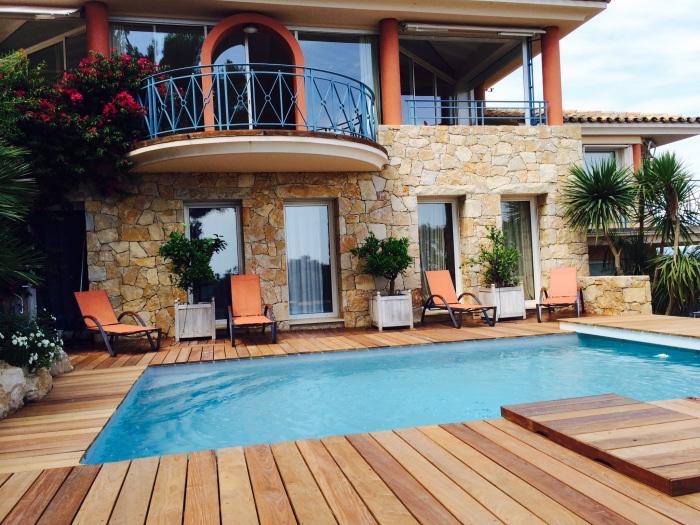 Location villa luxe Giens 8 personnes vue mer piscine prive  PGH08  Giens hyres