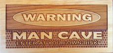 Wooden Engraving – Man Cave