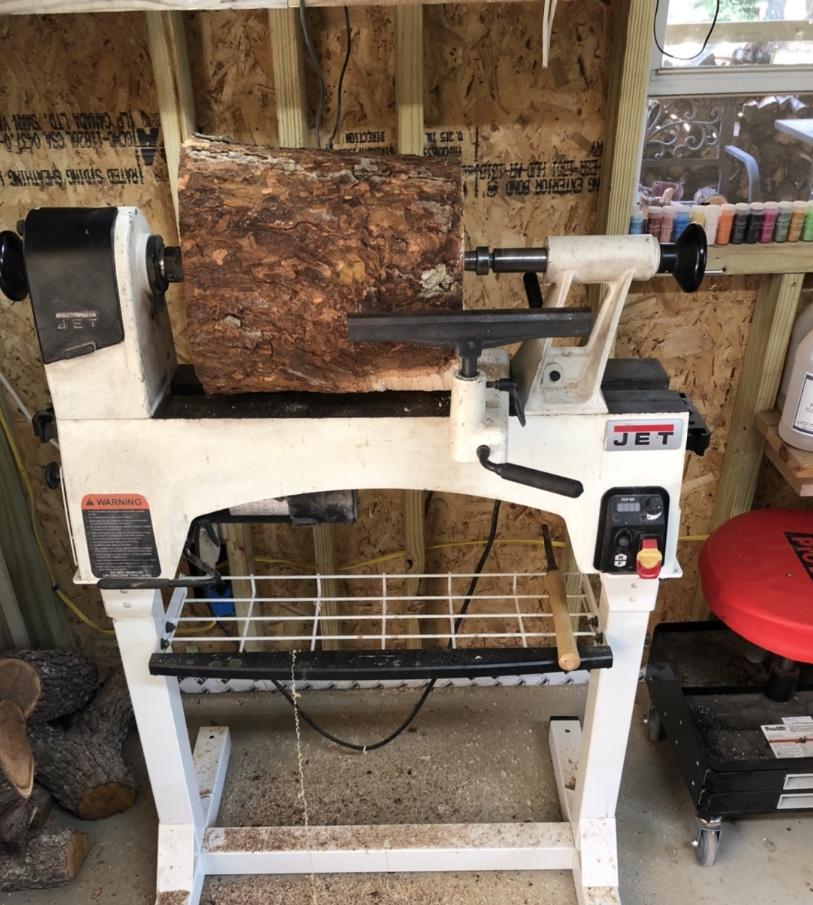 pecan wood on jet 1221 lathe