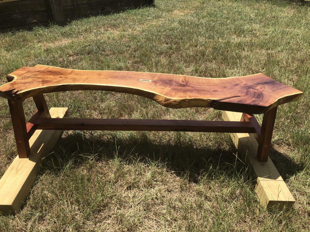 Mesquite bench w/ cedar base