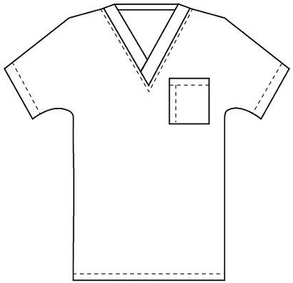 #03 * SCRUB TOP * Men's V-Neck * 1 Pocket * 27.5″ Length