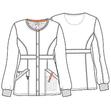 Women's Snap Front Scrub Jacket CODE HAPPY 46300A