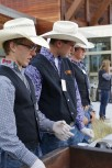 Last years rodeo team serving the chuck wagon dinner.