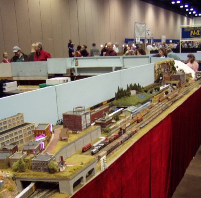 DCC operations made for interesting meets all over the layout consisting of more than 150 modules and a 22 scale mile red line.