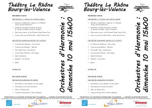 programme orchestres 10 mai