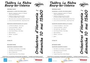 programme orchestres 10 mai