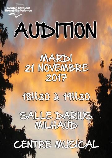 auditions novembre 2