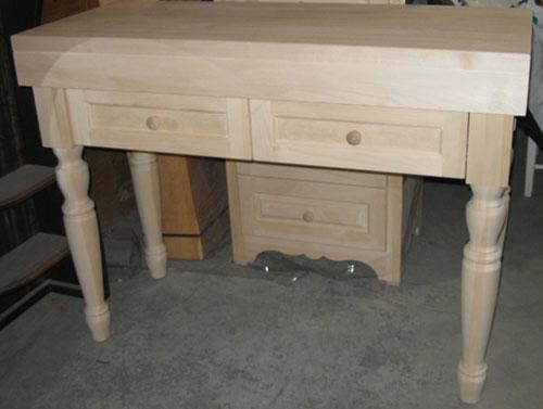 meuble de pin bloc boucher