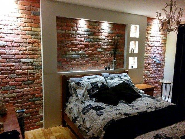 mur de brique décorative